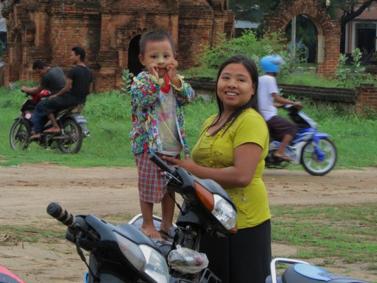 Bagan - Baby on Bike